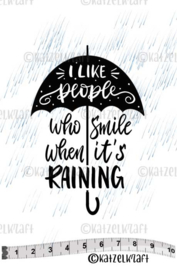 Katzelkraft - Smile When it's Raining - Rubber Stamp -  SOLO158