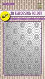 "EF3D001 3D-embossing folder ""Background flower"