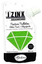 IZINK Diamond glitterverf/pasta - 80 ml, groen