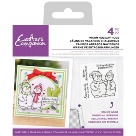 Crafter's Companion Clearstamp Snowman - Warm Holiday Hugs