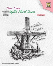 Nellies Choice clearstamp - Idyllic Floral - Molen IFS029