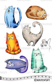 Katzelkraft - Cats - Rubber Stamps -  KTZ152