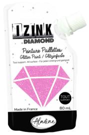 IZINK Diamond glitterverf/pasta - 80 ml, babyroze