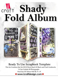 icraft - Shady Fold Album - Ready to Use Scrapbook Template.​