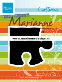 Marianne design Craftables stencil Puzzle piece CR1491