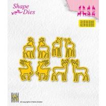 """Shape dies collections of mini dies """"deer-2"""" SD209"""