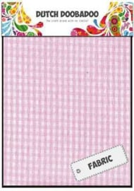 Dutch Doobadoo  - Pink Check sheets 400.903.012