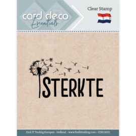 Card Deco Essentials CDECS022 - Clear Stamps - Sterkte