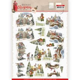 3D Knipvel -  Amy Design - Nostalgic Christmas - Christmas Village CD11559