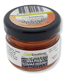CraftEmotions Wax Paste metallic colored - rood 20 ml