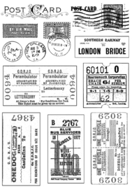 Crafty Individuals CI-239 Vintage Tickets and Postmarks Unmounted Rubber Stamps
