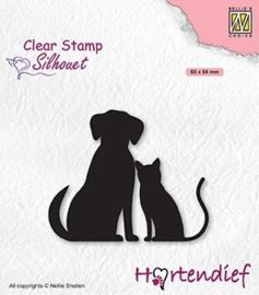"""Nellie's Clear Stamps Hartendief serie """"My Friends"""" SIL093"""