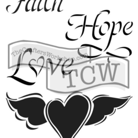 TCW2145 Faith hope love 6x9