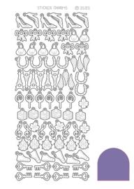 Sticker Charm Lucky - Mirror Purple