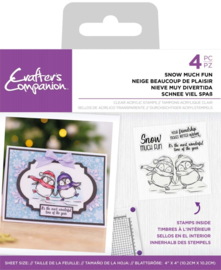 Crafter's Companion- Clearstamp Pinquin - Snow much fun