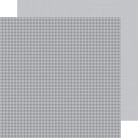 5445: stone gray gingham-linen petite prints