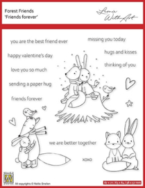 """Nellie's clear stamp forest friends """"friends forever"""" FFECS001"""