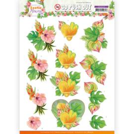 3D Push Out - SB10570 - Jeanine's Art - Exotic Flowers - Orange Flowers