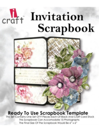 icraft -  Invitation Scrapbook - Ready to Use Scrapbook Template.
