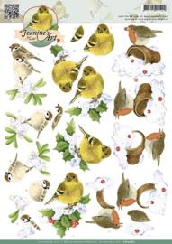 3D Knipvel - Jeanines Art - Winter Birds CD10580