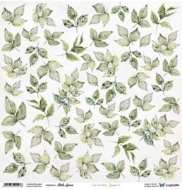 Designpapier Leaves 3 - 30.5x30.5 - per vel