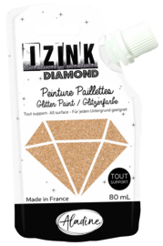 IZINK Diamond glitterverf/pasta - 80 ml, lichtgoud
