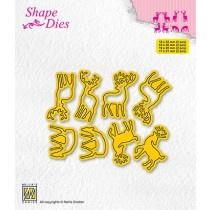"""Shape dies collections of mini dies """"deer-1"""" SD208"""