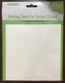 Nellie Snellen - Masking Sheets for stamps  15x15 (10stuks)