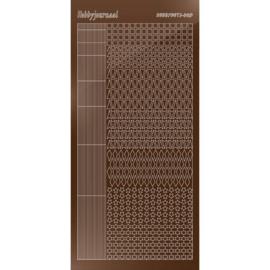 Hobbydots sticker - Mirror Brown