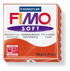 Fimo soft boetseerklei 56 g indisch rood