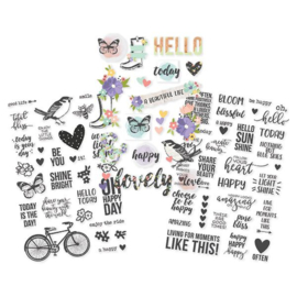 Simple Stories  Bliss -  4x6 Clear Stickers 10023
