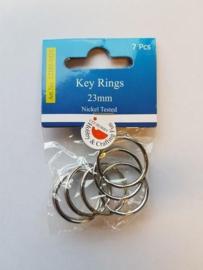 Key Rings 23mm platinum 7 ST 12335-3525