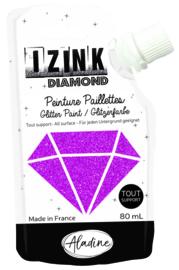 IZINK Diamond glitterverf/pasta - 80 ml, fuchsia