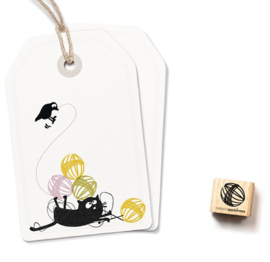 Cats on Appeltrees - 2325 - Ministempel -  Bolletje wol