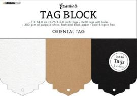 Studio Light Tag Block Essentials Oriental  148x210mm