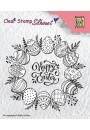 """Nellie Snellen - SIL027 Silhouette Clear Stamps """"Happy Easter"""" (85x90mm)"""