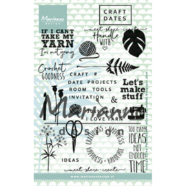 Marianne Design Clear Stamps - Craft Dates 1 EC0166