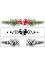 Nellie Snellen -   LCS007 Layered stamps w. position edge: Xmas border 120x22mm