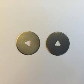 Reserve mesjes voor rotary cutter 28mm - 2 st. recht