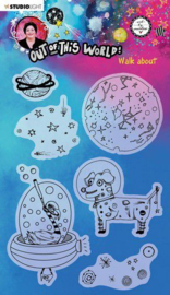 Studio Light A5 Clear Stamp ABM Out of this World nr.69