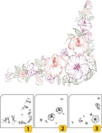 Nellie Snellen - Clear Stamp Layered - Flower Corner 1
