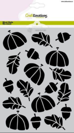 CraftEmotions Mask stencil Hedgy - herfst A5 Carla Creaties