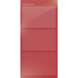 Hobbydots sticker - Mirror - Christmas Red