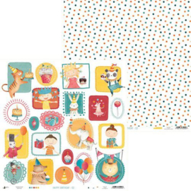 Piatek13 - Paper Happy Birthday 02 P13-409 12x12