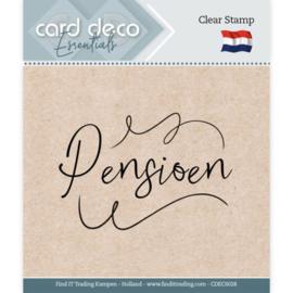 Card Deco Essentials CDECS028 - Clear Stamps - Pensioen