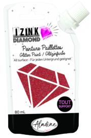 IZINK Diamond glitterverf/pasta 24 karaat- 80 ml, rood