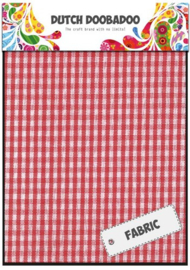 Dutch Doobadoo - Textiel Sheet - Red Check - 400.903.011