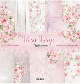 Designpapier - S&M - Rosy Days - 30,5x30,5