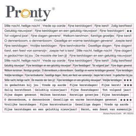 Pronty Stickers A5 Kerst tekst 491.100.014