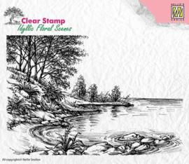 """Nellie Snellen -   IFS006 Idyllic floral scenes """"Waters edge"""" 140x95mm"""